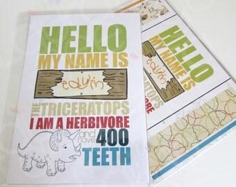 Children's A4 dinosaur print
