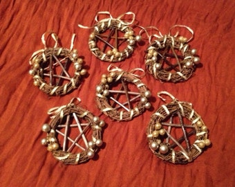 Willow Pentagram Wreath Ornaments