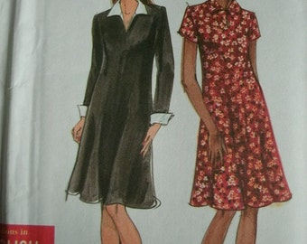 Misses Miss Petite Dress Size 6-8-10-12-14-16 Simplicity Easy to Sew Pattern 7942 Classic Dress UNCUT Pattern Dated 1997