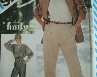 Misses Pants Size 6-8 Vintage Simplicity Ricki for Finity Pattern 6320 UNCUT MINT Pattern Dated 1984