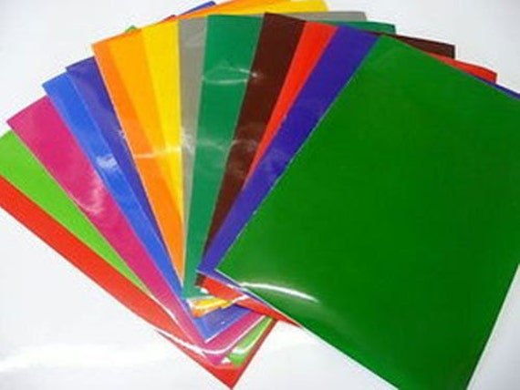 Self Adhesive Vinyl 10 Mixed Colour A4 Sheets Ideal For Craft