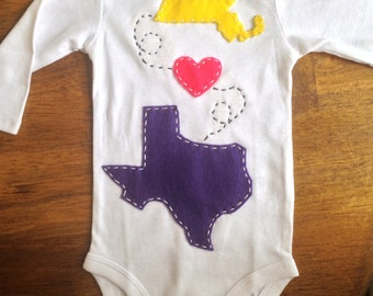 "Custom ""where i come from"" onesie"