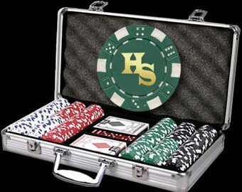 300 Personalized Poker Chip Set - Great Holiday Gift!