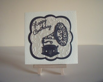Motif de Gramophone - Happy Birthday - une carte de voeux