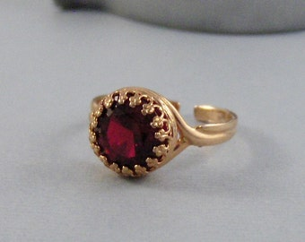 Ruby Rose Gold Ring,Ring,Rose Gold Ring,Gold,Ruby Ring,Genuine Ruby,Rose Gold Ruby,Red STone,Red Ring,Red Bridesmaid,Red Wedding,Seamaiden