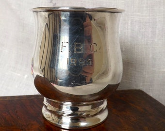 Towle Sterling Handleless Cup_Sterling Dedication Cup 1960's