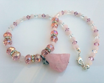 Lilac *Swarovski Crystal Necklace* (Free Shipping)