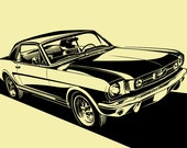 1965 Ford Mustang Hardtop / Coupe. Choose your Size, Material, Color, & Model Year Customization (1964 1/2, 1965, 1966)