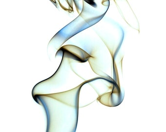 Fine Art photograph of smoke against a white background