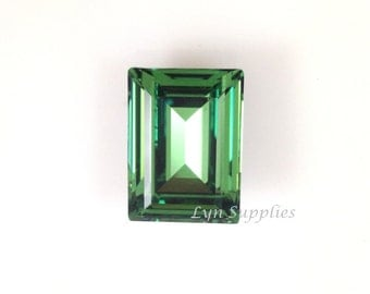 4527 ERINITE 18x13mm Swarovski Crystal Rectangle Step Cut Fancy Stone, Foiled Back