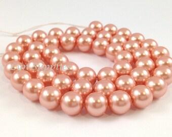 5810 6mm ROSE PEACH 50pcs or 100pcs Swarovski Crystal Pearls
