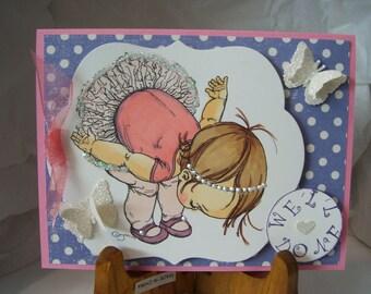 Cute Ballerina Card - Taking a Bow