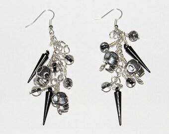 Skulls and Spikes Earrings