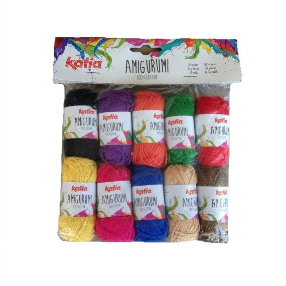 Amigurumi yarn mix 100 gr strong colours 100 % by Soulmadehome