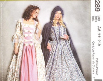 McCall's 3289 Misses' Colonial Costume Pattern, 6-12