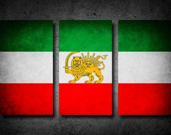 Persian Flag Triptych (w/ Free Shipping!)