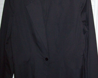 Black blazer by George Masket Ltd. New York Top quality cotton/poly size 14 perfect cond.