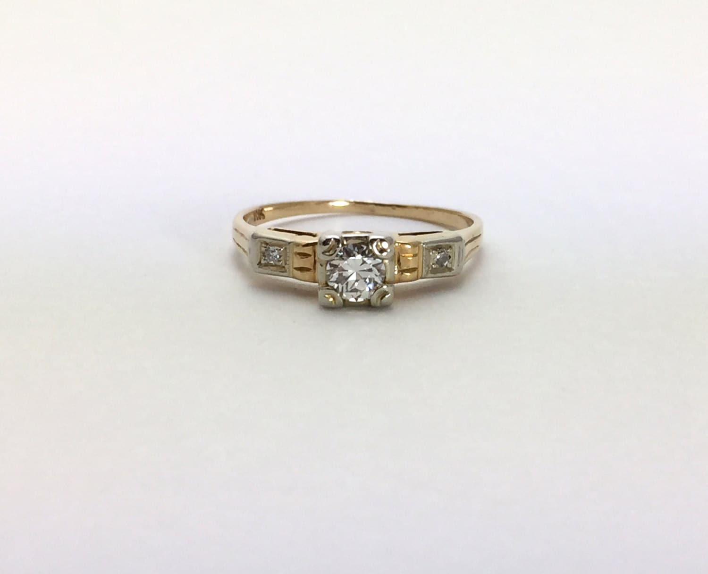 1940 s antique engagement ring