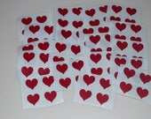 Mrs. Grossman's Small Dark Red Heart Sticker Stickers Lot of 20 of 4 = 80 Total