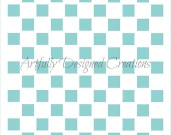 Checkered Background Stencil