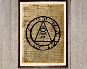 Silent Hill Print Occult Poster Magic Illustration Dictionary Page Wa320