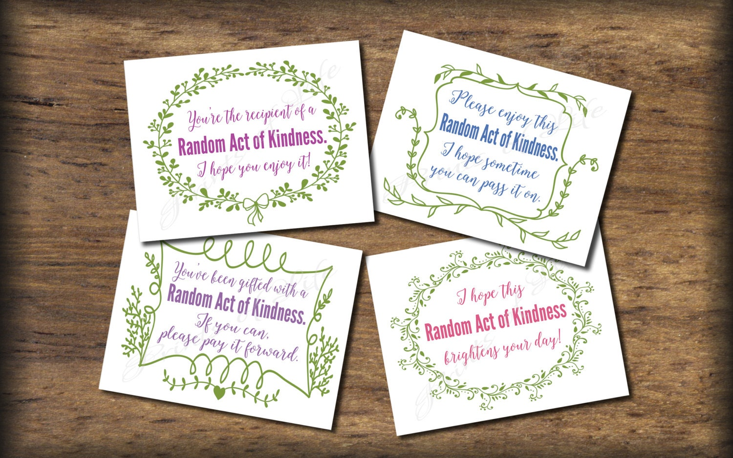 This is a graphic of Epic Kindness Cards Printable