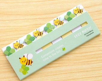marker sticker--bees and flowers