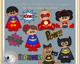 Baby Superhero Clipart, birthday party
