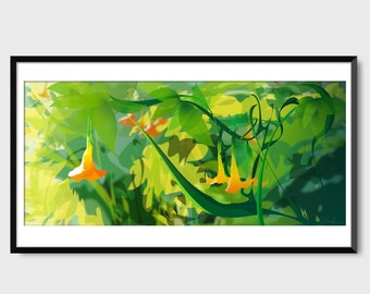 Greenery Print by Monica Ahanonu