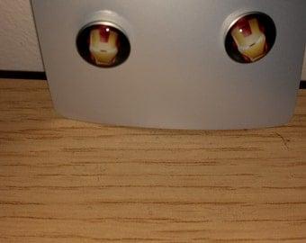 Iron Man stud ear-rings