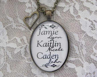 Mother's Custom Name Pendant Necklace