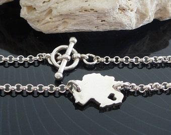 Sterling Silver Germany Bracelet / Custom Heart / Small Germany Bracelet / Love Germany / State Bracelet / Germany Wedding