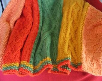 single knit plaid wool blanket