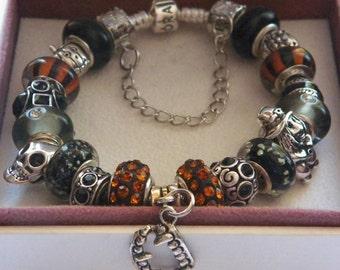 "Authentic 925 Sterling Silver PANDORA Bracelet ""HALLOWEEN"""