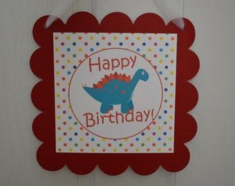 Dinosaur Theme Happy Birthday Door Sign - Dinosaur Door sign - T Rex Party - Dinosaur & Dinosaur door sign | Etsy Pezcame.Com