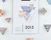 "Calendar 2015 - ""Geometry"" DIY"