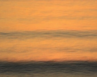 Sunset Ocean Reflection, Waves, Tide Motion, Dreamy, Seascape