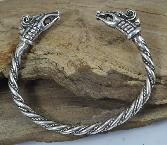 viking dreki celtic twisted bracelet with a dragon sterling. Black Bedroom Furniture Sets. Home Design Ideas