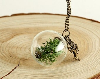 Genuine Moose glass ball necklace * Spring * | K003
