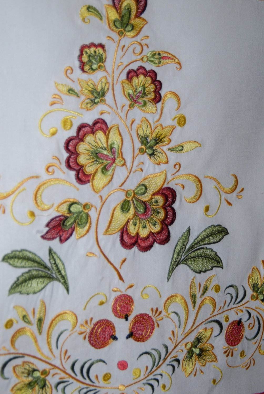Russian khokhloma wedding towel machine embroidery designs set