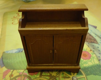 Vintage Handcrafted Doll House Colonial Wooden Dry Sink