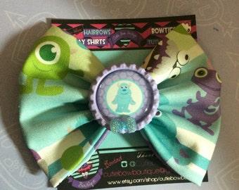 Monster inc hair bow / monster inc babies