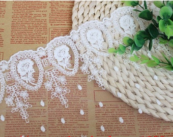 2yards*16cm width wedding lace ribbon, DIY embroidered rose lace trim