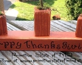 Primitive, Thanksgiving, Fall, Harvest, Handmade, Pumpkin,Wooden Block, Vinyl, sign, FAAP