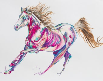 Horse Painting of 'Maahra Rose'