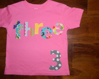 Toddler Birthday Shirt, Toddler Girl Birthday Shirt, 3rd Birthday Shirt