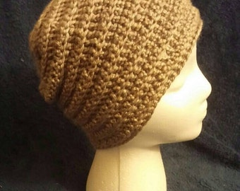 Slouchy hat brown - very soft!