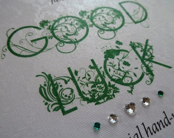 Handmade Personalised Good Luck Card