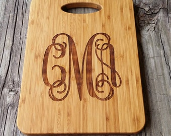 Wooden Monogram Cutting Board - Personalized Cutting Board - Bamboo Cutting Board - Monogram Cutting Board - Monogram Gift - Wedding Gift