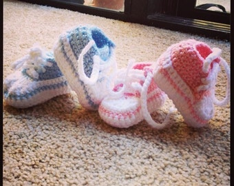 Baby Crochet Converse Shoes